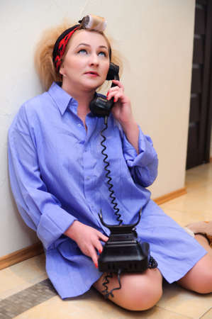 Vintage woman on telephone  Stock Photo - 11935455