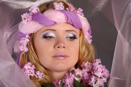 smelling: The flower fairy with lilacs