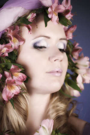 The flower fairy with lilacs photo
