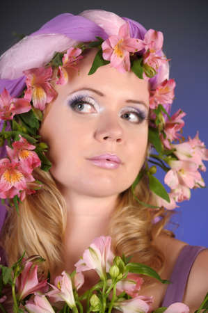 The flower fairy with lilacs Stock Photo - 11936668