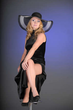 The elegant woman in the big hat photo