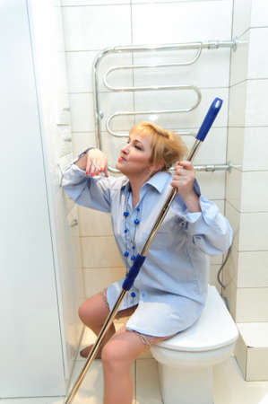 Cleaning Lady - Worn Out  Stock Photo - 12235025