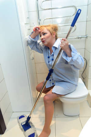 toilet brush: Cleaning Lady - Worn Out