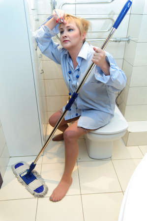 slut: Cleaning Lady - Worn Out