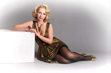 blond in retro style  Stock Photo - 12234891