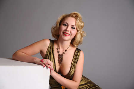 blond in retro style Stock Photo - 12234900