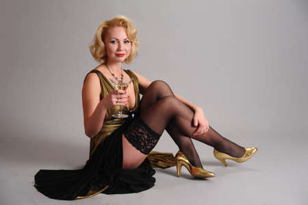 blond in retro style Stock Photo - 12234890