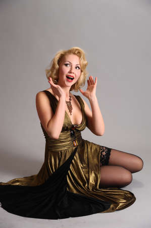 blond in retro style Stock Photo - 12234858