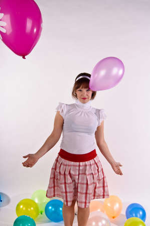 blond pin up girl  With balloons Stock Photo - 11958204