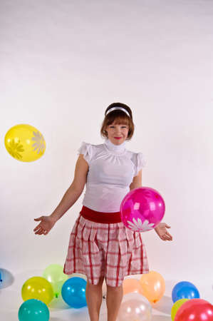 blond pin up girl  With balloons Stock Photo - 11958210
