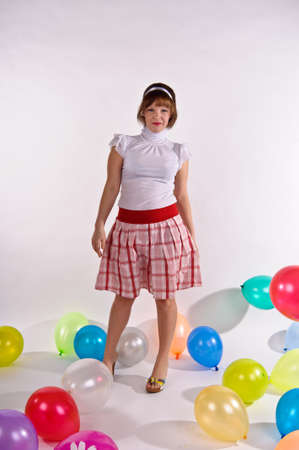 blond pin up girl  With balloons Stock Photo - 11958200