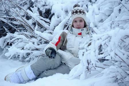 Girl sitting in Winter Park photo