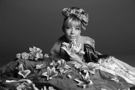 flower fairy, vintage photo photo