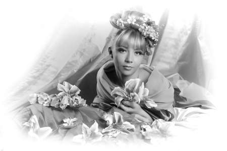 flower fairy, vintage photo Stock Photo - 11964697