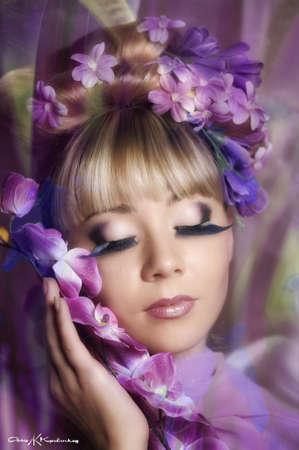 Fée Fleur Banque d'images - 11964662