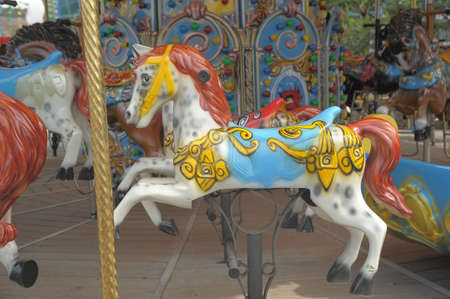 horse on a carousel of child photo