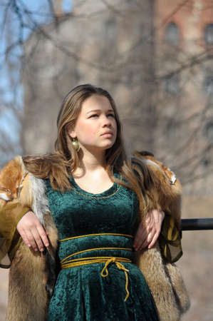 Viking girl  photo