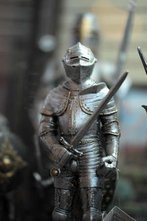Statue of a medieval knight photo