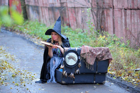 the witch with the book of spells