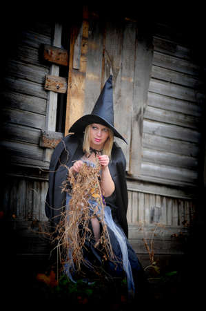 Witch in the hat Stock Photo - 13295566