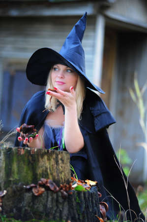 witch in the forest Stock Photo - 12052907