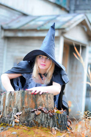 witch in the forest Stock Photo - 13295569