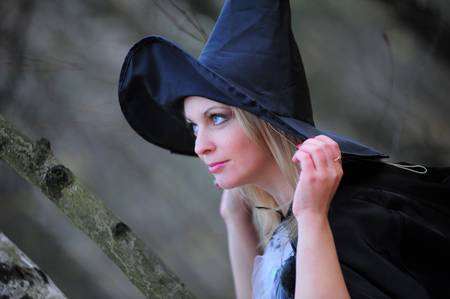 witch in the woods Stock Photo - 12052925