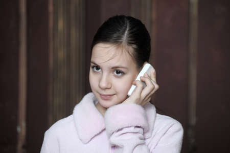 talking on the phone Stock Photo - 12174959