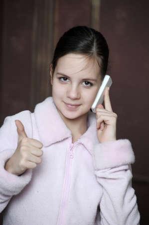 Teen talking on the phone Stock Photo - 12174950
