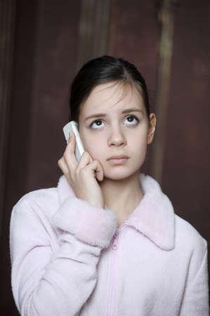 Teen talking on the phone Stock Photo - 12174968