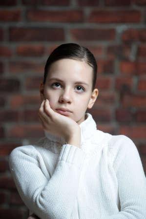 Thoughtful girl  photo