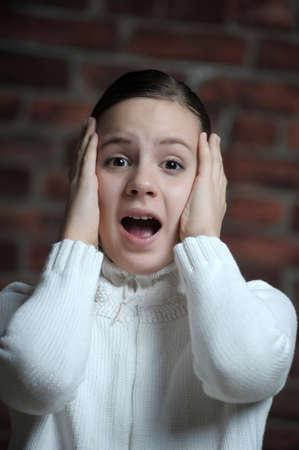 anxious: teen girl afraid