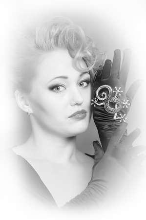 Retro jewelry woman Stock Photo - 12204966