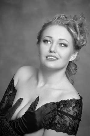 Beauty portrait of blonde girl
