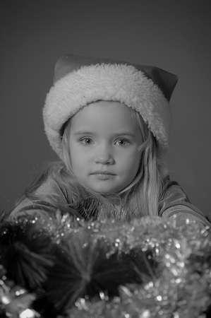 Little santa girl Stock Photo - 13253111