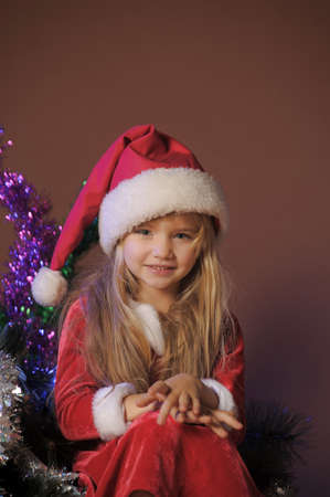 Little santa girl Stock Photo - 13253117