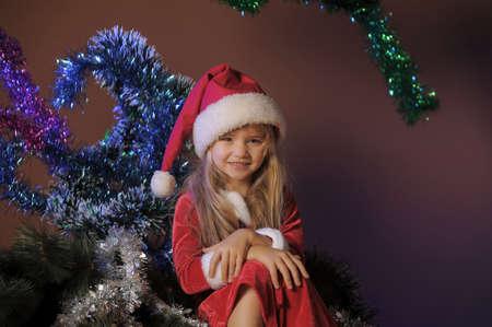 Little santa girl photo
