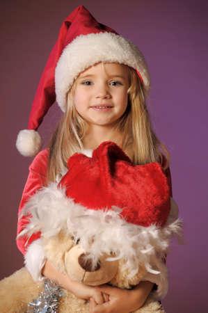 Christmas child with Teddy Bear
