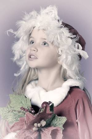 Little santa girl Stock Photo - 13253123