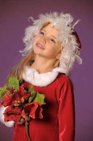 Little santa girl Stock Photo - 13253115