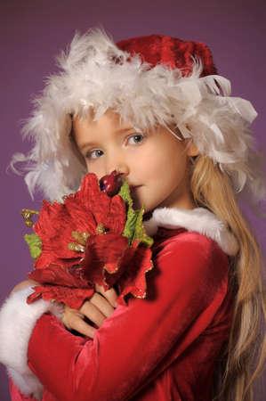 Little santa girl Stock Photo - 13253127