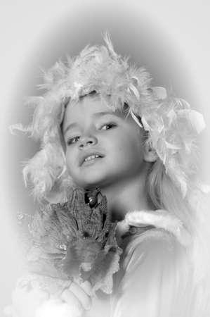 Little santa girl Stock Photo - 13253124