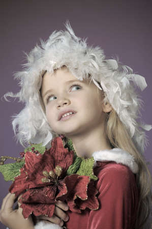 Little santa girl Stock Photo - 13253129