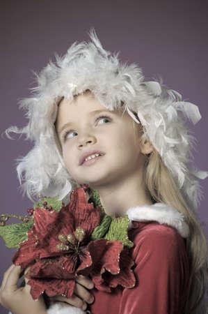 Little santa girl Stock Photo - 13253129