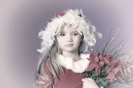 Little santa girl photo