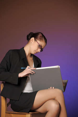 Business the woman with folders of papers Stock Photo - 12665608