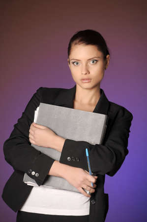 Business the woman with folders of papers Stock Photo - 12665584