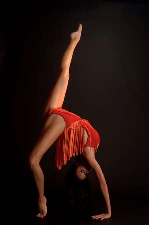 gymnast in red Stock Photo - 12205160