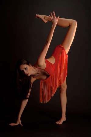 gymnast in red photo