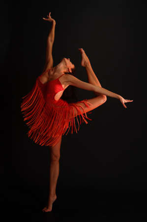 gymnaste en rouge photo